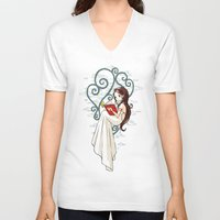 fairy tale V-neck T-shirts featuring Fairy Tale by Freeminds