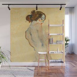 "Egon Schiele ""Standing Nude with White Drapery"" Wall Mural"