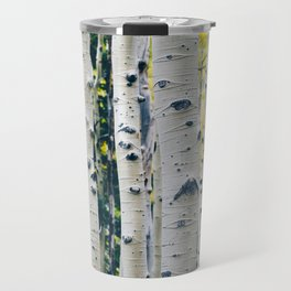 Aspen Forest Tree Bark Travel Mug