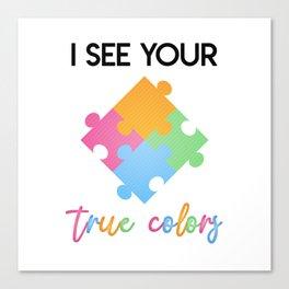 Autism Colors v2.0 Canvas Print