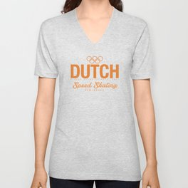 Dutch - Speed Skating Unisex V-Neck