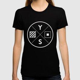 YS Logo - White Outline T-shirt