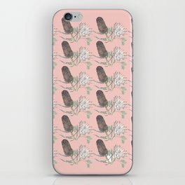Banksia and Protea blush pink iPhone Skin