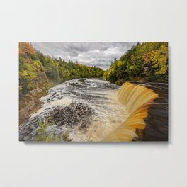 TAHQUAMENON FALLS AUTUMN PHOTO - MICHIGAN UPPER PENINSULA FALL IMAGE - LANDSCAPE PHOTOGRAPHY Metal Print
