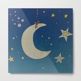 Moon Hanging Metal Print