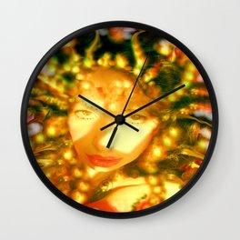 fire of the belly dancer ladykashmir Wall Clock