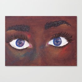 She Sees Through Universes Canvas Print
