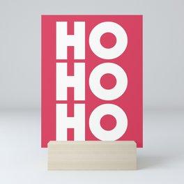 HO HO HO Christmas Santa Claus Mini Art Print