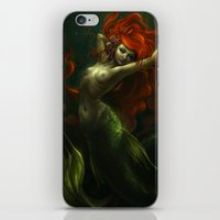 little mermaid iPhone & iPod Skins featuring Little Mermaid by Caroline Jamhour