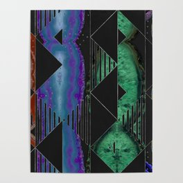 Agate Geode Textures Geometric Abstract  N4 Poster