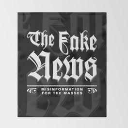 The Fake News Header Throw Blanket