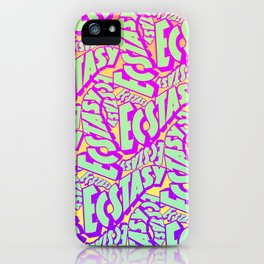 'Ecstacy' 70's Psych Poster Fade Pattern iPhone Case