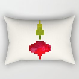 Beet Vegetable Pixel Watercolor Vegetable Red Colors Geometric Art Rectangular Pillow