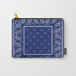 Classic Royal Blue Bandana Carry-All Pouch
