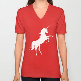 The Unicorn in You (white) Unisex V-Neck