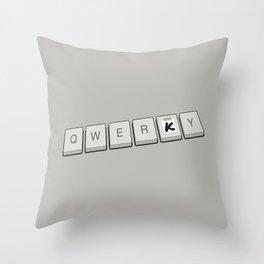 Qwerky Throw Pillow