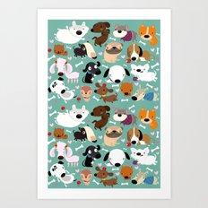 Happy dogs Art Print