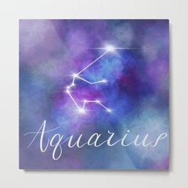 Horoscope Series Aquarius Metal Print
