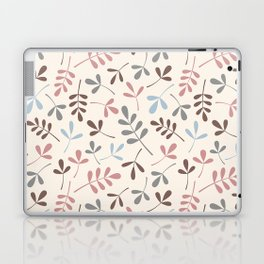Assorted Leaf Silhouettes Pastel Colors Pattern Laptop & iPad Skin