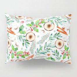 Wintergreen foliage modern Christmas pattern Pillow Sham