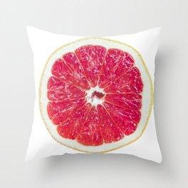 Half Grapefruit Throw Pillow