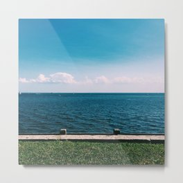 Looking out on the sea Metal Print