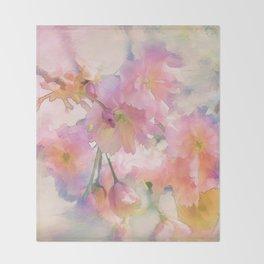 Chinese Cherry Blossom Throw Blanket