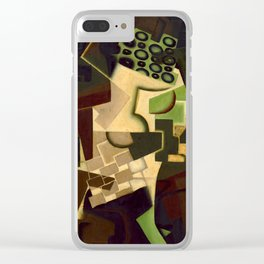 "Juan Gris ""Fruit Dish on a Checkered Tablecloth"" Clear iPhone Case"