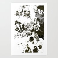 the who Art Prints featuring Who by Eternal