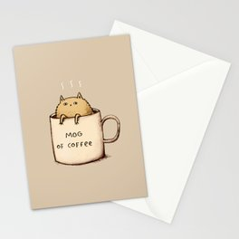 Mog of Coffee Stationery Cards