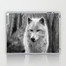 White Wolf in the Forest Laptop & iPad Skin