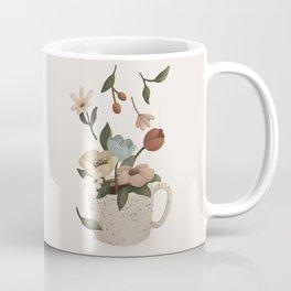 Coffee with Flowers Coffee Mug