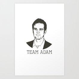 Team Adam Art Print