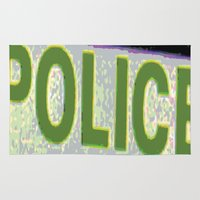 police Area & Throw Rugs featuring police by XiXi