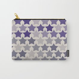 Blue Purple Stars Carry-All Pouch