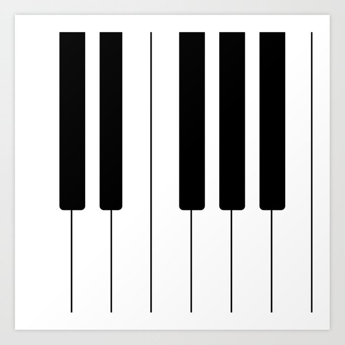 photograph about Piano Keyboard Printable known as Piano Keys - New music Artwork Print as a result of roxart