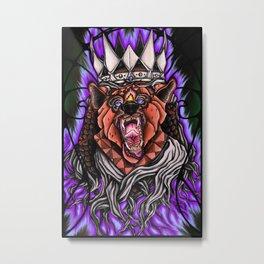 The Fierce King Metal Print
