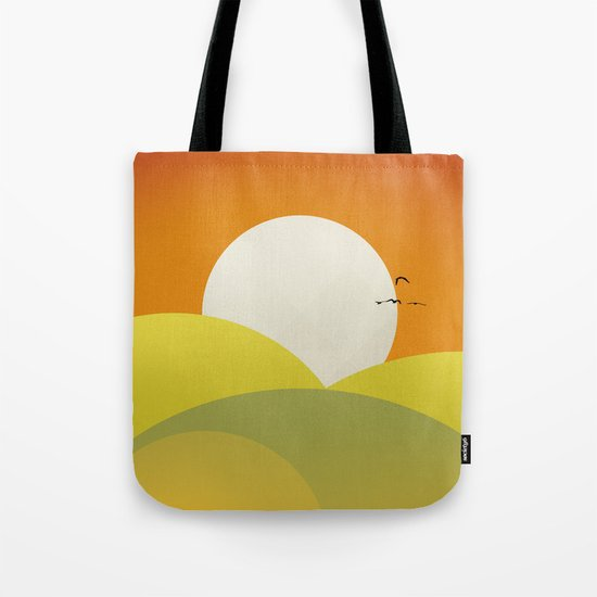 Chilaxing autumn on seaside Tote Bag