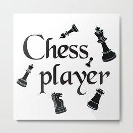 Chess player Metal Print