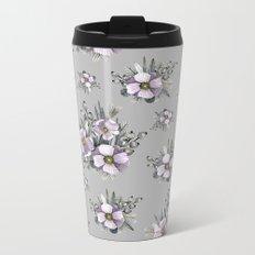 FLOWERS WATERCOLOR 22 Metal Travel Mug