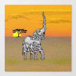 Trumpeting Elephant Knot Canvas Print