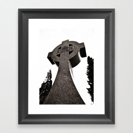 Celtic Cross Claddagh Framed Art Print