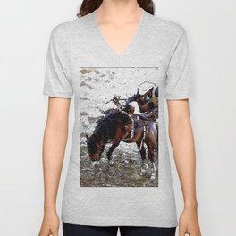 The Dismount   -   Rodeo Cowboy Unisex V-Neck
