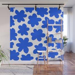 Wild Blue Wall Mural