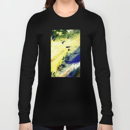 Abstract Yellow Dancer by Robert S. Lee Long Sleeve T-shirt