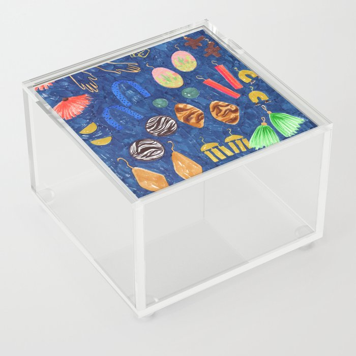 Earring Collection drawing Acrylic Box