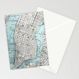 NEW YORK CITY MAP ORIGIN Stationery Cards