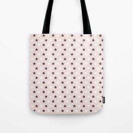 Deep purple and white stars on pale pink Tote Bag