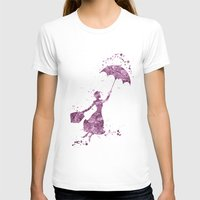 mary poppins T-shirts featuring Mary Poppins Disneys by Carma Zoe