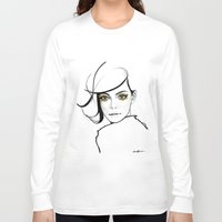 golden girls Long Sleeve T-shirts featuring MY GIRLS . GOLDEN EYE LASHES by Camila Giacoia
